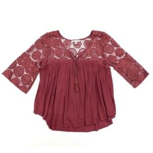 American Eagle Outfitters Women's Top Blouse 3/4 S